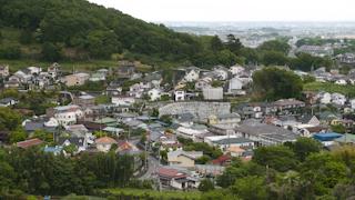 日本/神奈川/秦野市街俯瞰