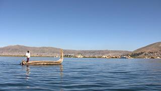 ペルー/チチカカ湖/ウロス島