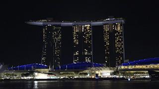 シンガポール/マリーナベイ・サンズの夜景