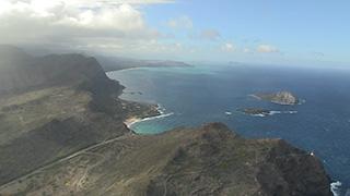 アメリカ/ハワイ/オアフ島/ワイマナロ上空