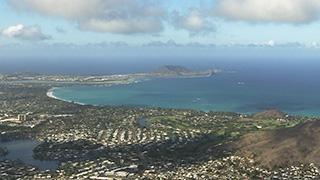 アメリカ/ハワイ/オアフ島/カイルア上空