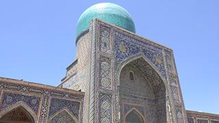 ウズベキスタン/サマルカンド/レギスタン広場/ティラカリ・マドラサ